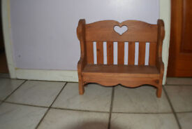 Solid Pine Minature Bench