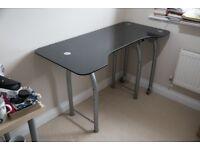 Black Glass Office/computer Desk
