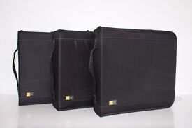 3 x Case Logic Disc Wallet / Binder (CD/DVD/Blu-ray) holds 224 discs - Great Condition!