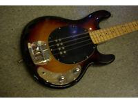Wesley EB Musicman Style 4-String Bass Guitar in Sunburst Finish