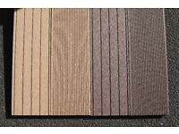 2.2m WPC Wood Plastic Composite Hollow Decking Board in Walnut / Oak Colour