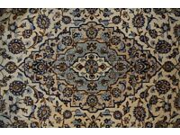 Wool Ardakan Beige Hand Knotted Persian carpet Rug 310x204 cm