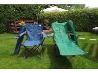 2 Folding Chairs 2 Folding Loungers