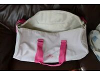 Pink Lacoste Parfums Sports Bag Holdall