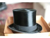 Vintage Top Hat in original box (James Goldie, Frederick St, Edinburgh )