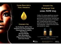 GOLDEN OIL 10ML, DIMINISHES WRINKLES, FINE LINES, BLEMISHES, STRETCH MARKS AND PIGMENTATION MARKS