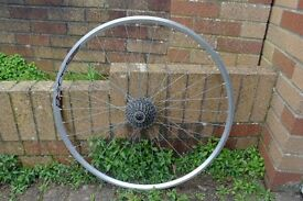 Racing Bike Rear Wheel 7 or 8 Speed Cassette Wheel V Section Double Wall Can Deliver If Local