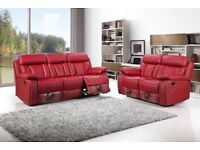 New Allure Leather Recliner 3+2 Sofa Set With Drink Holder