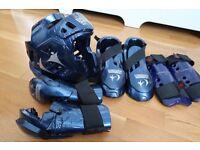 Macho Warrior Sparring Kit (Taekwondo, Karate, MMA) Blue Gear Set