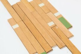 Reclaimed Maple Solid Wood Floor - Old Gym Floor - Vintage Light Wood Skinny Flooring
