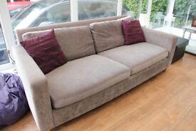 Grey three seater (or four!) sofa