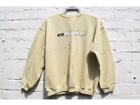 Reebok XS Ladies or Men's Rare Vintage Original Retro 90's Pale Yellow Jumper C48""