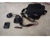 Canon 550D Body, 18-55mm Lens including Bag, Brush and Charger (RRP £350)
