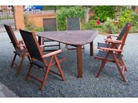 Garden Table & 6 Chairs in Teak