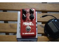 TC Electronic HALL OF FAME Reverb + power supply + cables