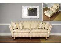 NEW* DURESTA Ruskin 3 Piece Suite RRP £5856 Large Sofa, Chair, Footstool