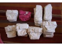 Complete set of Reusable Nappies- from birth to potty