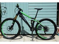 "CUBE STEREO 140 SUPER HPC SL Full Suspension 27.5 Carbon Mountain Bike Size Medium 18""/46cm"