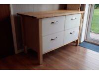 IKEA kitchen island butchers block with storage drawers