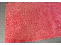 Beautiful Large Hand-Made Pink Rug for Sale, Very Good Clean Condition