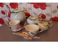 Rare Franz Butterfly Tea Set for Two - Very Collectable