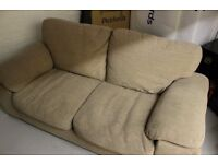 Beige Two Seater Sofa