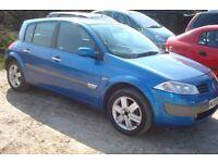 Renault Megane dynamique 1390cc petrol, 2003-03-plate, 133,000 miles, new mot on purchase