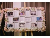Wedding flower photo frames (18 photos each), can be used for table plans (2 for sale)