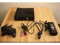 Xbox 360 4GB Black plus controller, all cables and 7 games