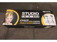 BOWENS Esprit Gemini Studio in a Box Lighting Kit - never been used!