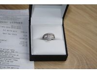 9 ct white gold diamond engagement ring with wedding ring to match
