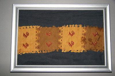Textil antik pre-Columbian NazcaChimuInkaChancay präkolumbisch Vogelgottheit RAR