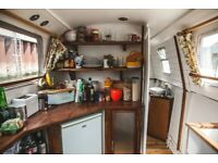 Fully renovated houseboat with East London residential mooring