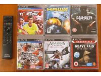 PS3 games and BD remote handset controller