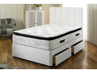 All Sizes Available==Divan Bed Base With Semi Ortho Mattress And Color Of Choice