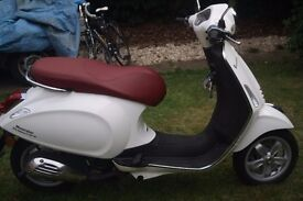 Vespa Primavera 50 2T. Save yourself £100s on the price of a new one