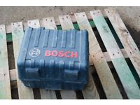 Bosch 110v circular saw with x2 blades 1 new.