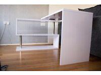 Gloss White Corner Desk