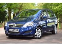 2009 VAUXHALL ZAFIRA EXCLUSIVE 1.6*LOW MILEAGE*3 MONTHS WARRANTY*JUST SERVICED*2 FORMER KEEPER