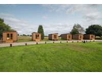 Glamping holiday pod with ensuite toilet and shower