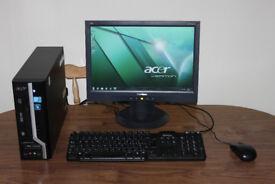 """Acer Veriton X275 Core 2 Duo, 17"""" Widescreen Monitor, Win 7"""