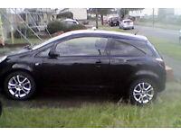Vauxhall Corsa 1.2 SXI 2009 (59 plate), Black, 3 door, MOT March 2017, 64000 miles
