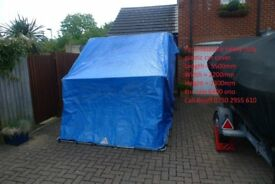 Large Heavy Duty Metal Framed Perambulator Car Cover