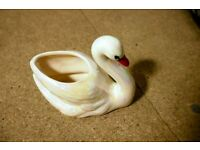 Wonderful VINTAGE porcelain swan - CHARITY SALE