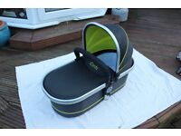 "iCandy Peach All Terrain CarryCot - ""Toucan"" (Grey & Lime) with rain cover"