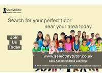 Select Your Private Tutor From 'Select My Tutor'- Over 10,000 Best Tutors Of English/Maths/Science
