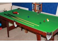 Snooker table 6ft by 3ft