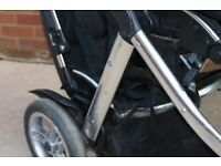 Oyster Max Tandem/Double Buggy with two seats and Maxi Cosi adaptors