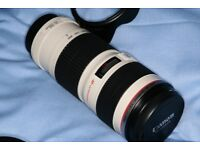 Canon 70-200mm F4 L-series lens - Mint condition