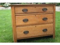 Pine chest of drawers. Vintage